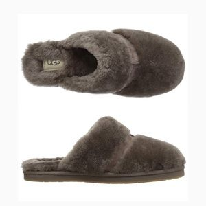 Ugh Dalla Slip-On Fur House Slippers in Slate